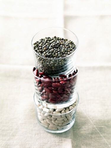 Composition with dried beans