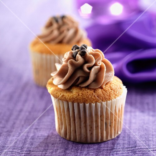 Coffee mousse cupcake