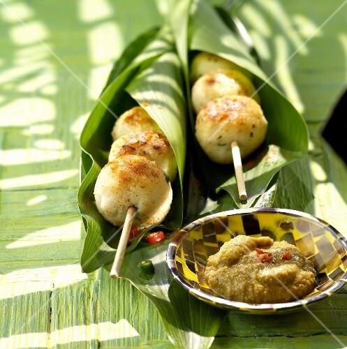 Satay,fish brochettes,Timor