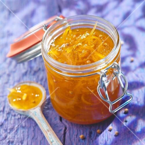 Citrus fruit and coriander marmelade