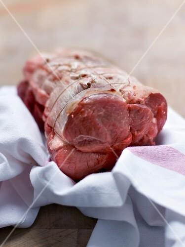 Raw saddle of lamb