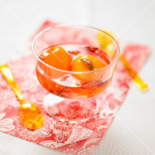Stewed peaches in syrup