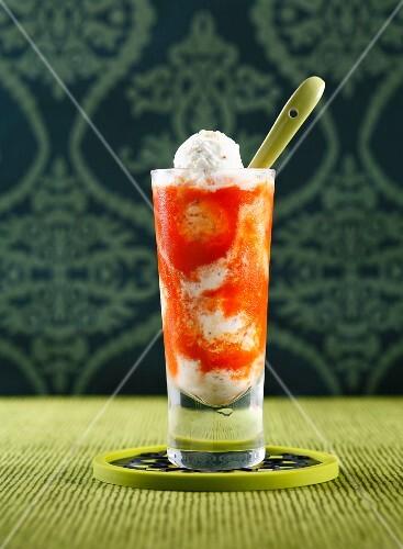Mustard ice cream and gazpacho