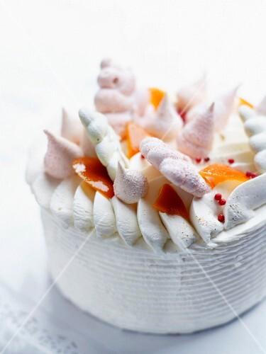 Vacherin ice cream cake