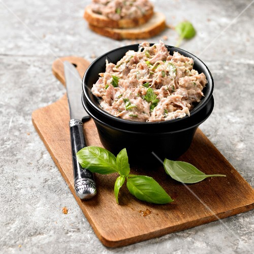 Potted rabbit with basil