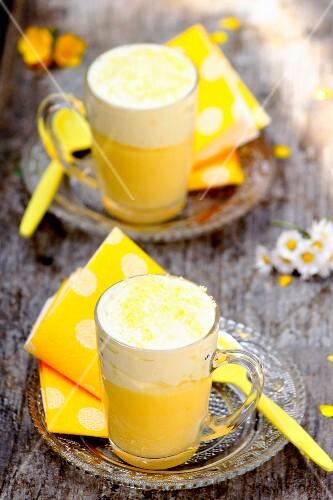 Chibouste au citron (French vanilla dessert with lemon)