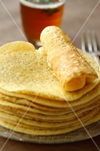 Baghrir, Moroccan pancakes with honey