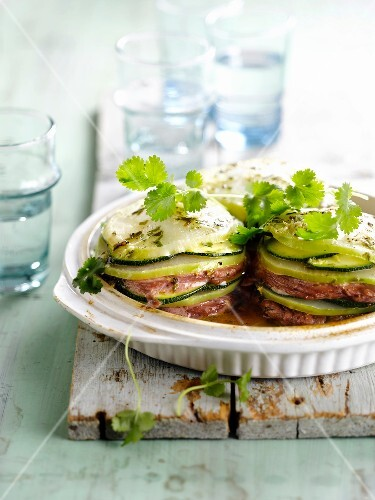Zucchini and beef Mille-feuille