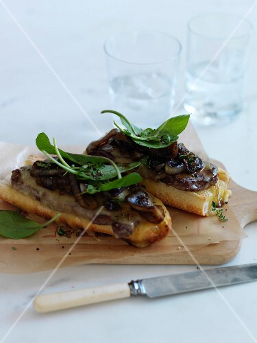 Pan-fried foie gras and caramelized onions on toast