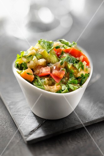 Pan-fried vegetables with parsley