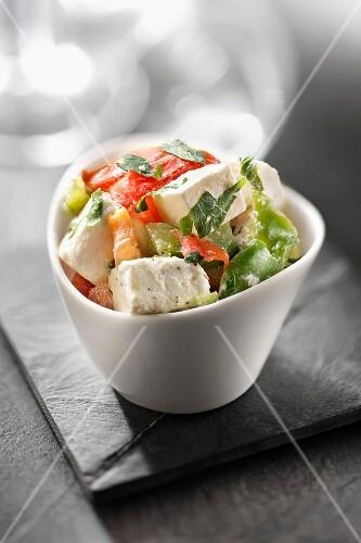 Pepper and feta salad