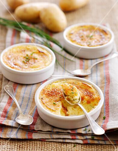 Potato savoury Crème brûlée