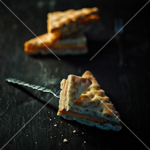 Ham and cheese Swedish bread sandwich