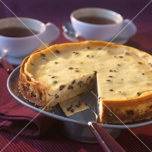 Raisin cheesecake
