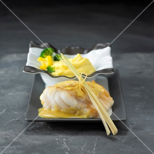 Monkfish with citronella sauce