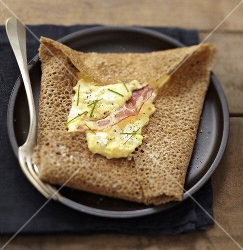 Fromage frais and bacon Galette