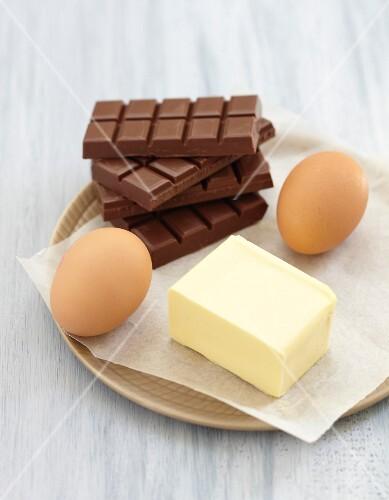 Ingredients for Stracciatella cake
