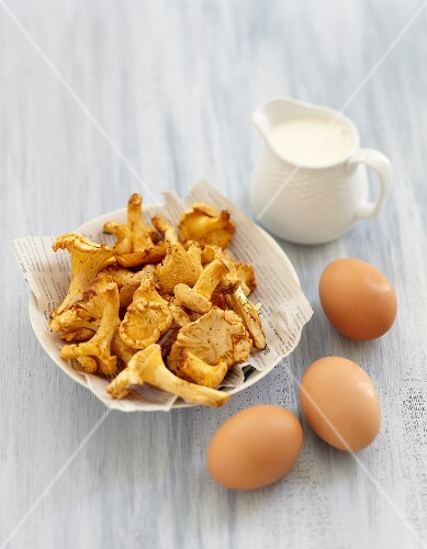 Ingredients for small chanterelle Flans