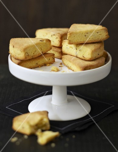 Vache qui rit and cumin savoury shortbreads