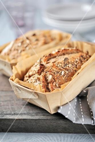 Granary bread loaves