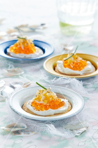Fish roa and grated cheese tartlets