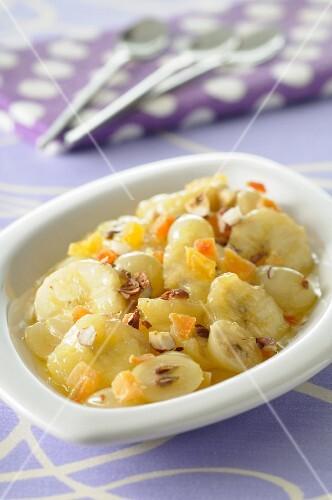 Pan-fried winter fruit