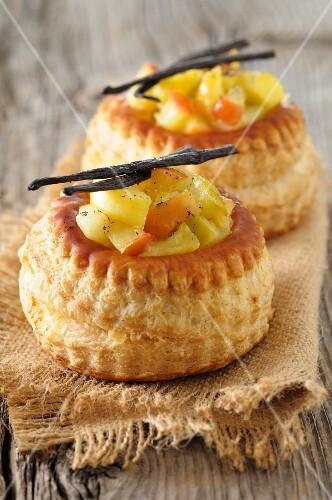 Stewed fruit Vol-au-vents
