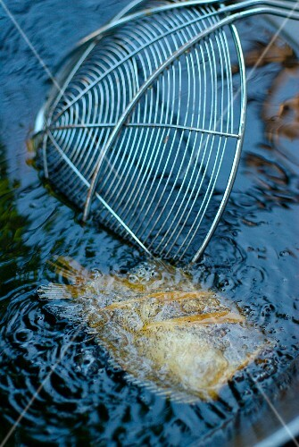 Deep-frying fish