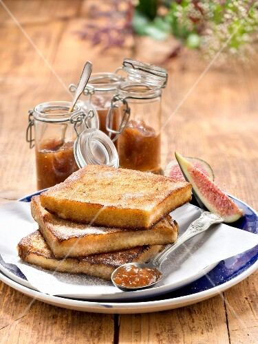French toast with fig jam