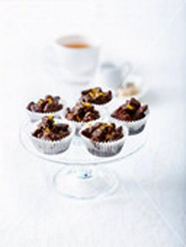 Mini chocolate cornflake cookies