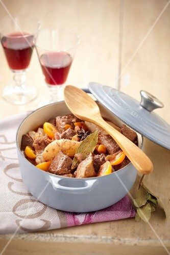 Veal stew with quince and kumquats