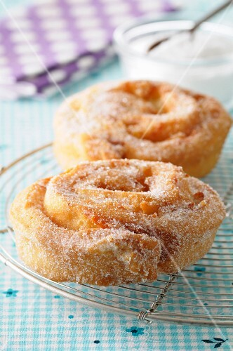 Rolled sugar donuts