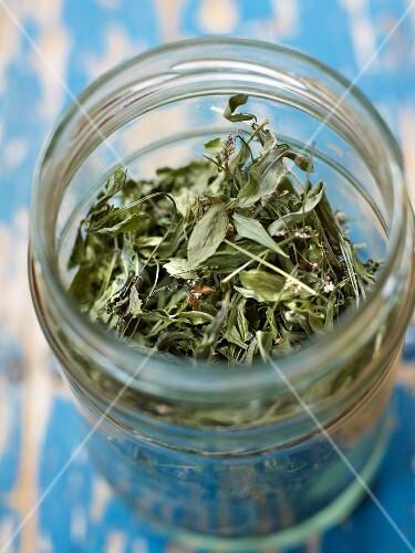 Jar of sweet woodruff