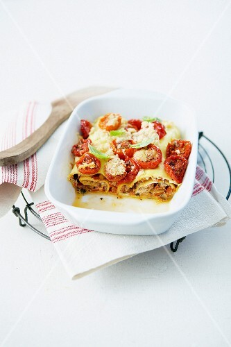 Cannelloni-style summer vegetable grilled lasagnes
