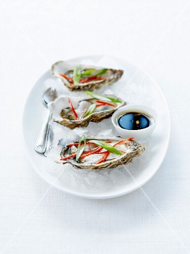 Asian-flavored oysters