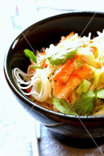 Vermicelli, crab and cucumber salad
