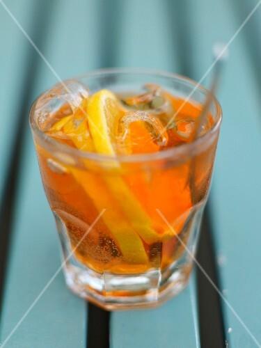 Orange liqueur cocktail