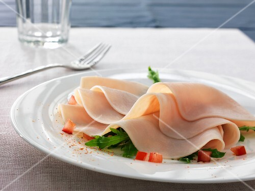 Thin slices of chicken fillets