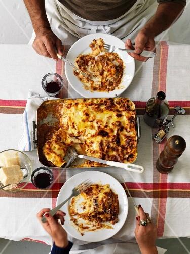 Beef lasagnes