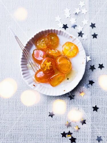 Kumquats confit in honey and vanilla