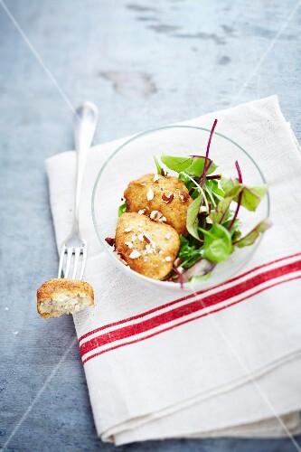 Potato-hazelnut croquettes