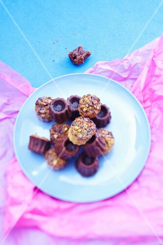 Pistachi Cannelés and chocolate Cannelés