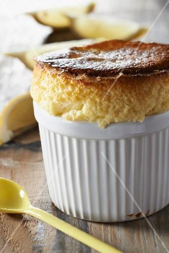 Sheep's milk cream cheese and lemon souffle