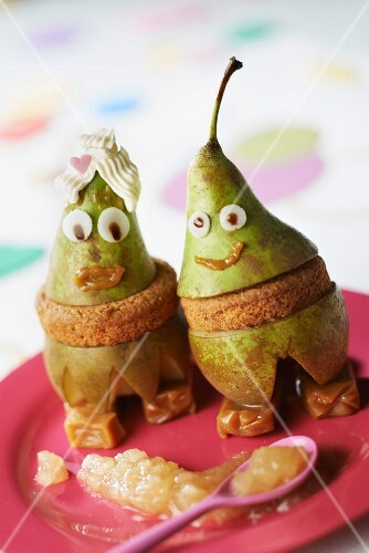 Mr and Mrs pear, caramel and shortbread Normandy
