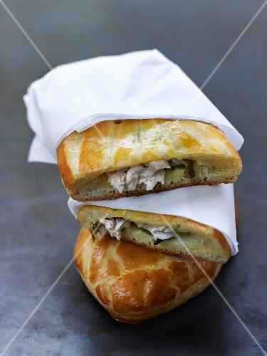 Chicken brioche bun