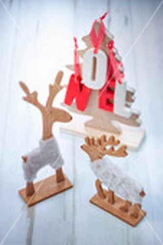 Christmas tree and raideer Christmas decorations