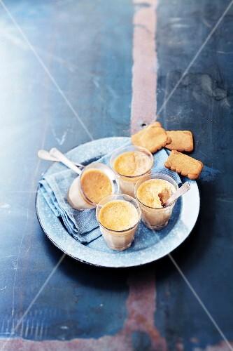Speculos ginger biscuit cream desserts