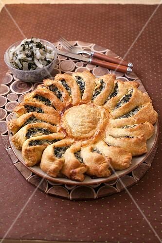 Swiss chard,parmesan and ricotta sunny pie