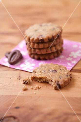 Milk chocolate chip rich shortbreads