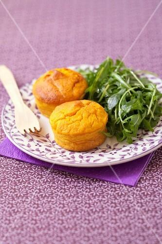 Semolina and pumpkin small flans
